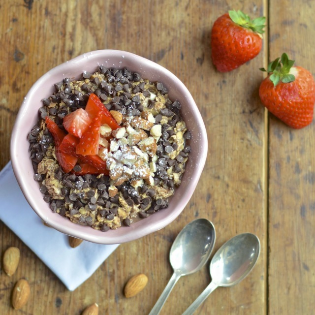 Chocolate Strawberry Almond Oatmeal